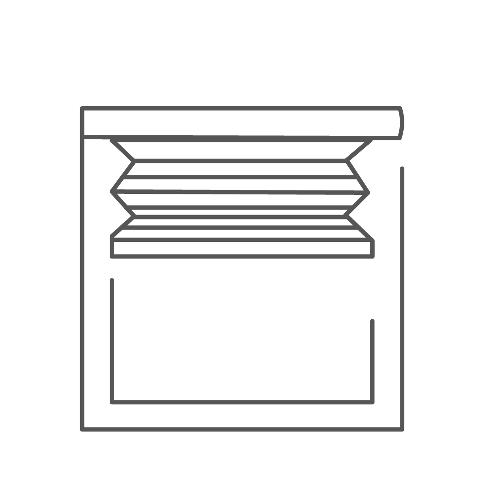 pleated blinds icon