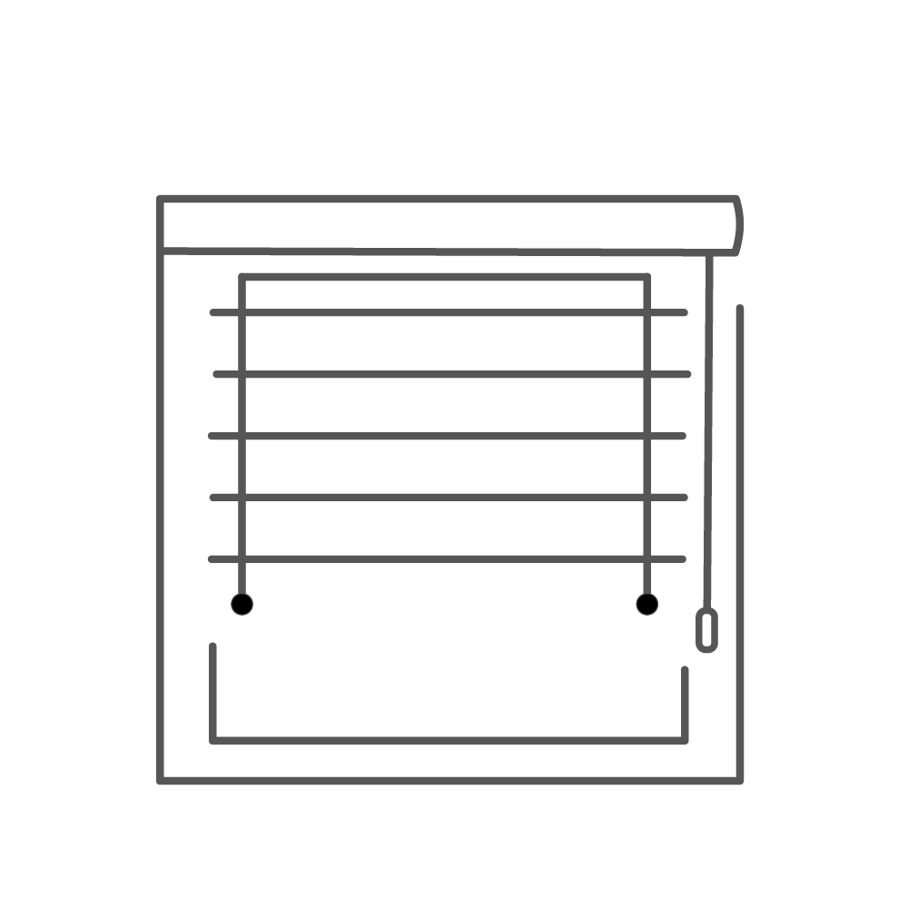 self fitting blinds icon