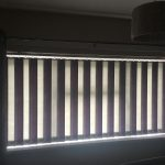 Multi coloured vertical window blinds Plymouth