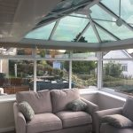 Roller blind in a conservatory by Blindology Blinds plymouth