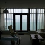 Vertical blinds with a view due to the type of blind by Blindology Blinds plymouth