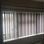 Mixed colour slats alternating vertical window blinds by Blindology Blinds plymouth