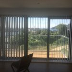 Great shading and privacy, vertical window blinds by Blindology Blinds Plymouth.